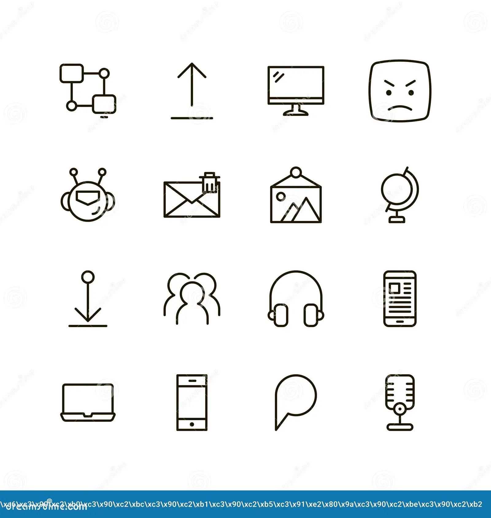Flat Line Icon Stock Illustration Illustration Of Like