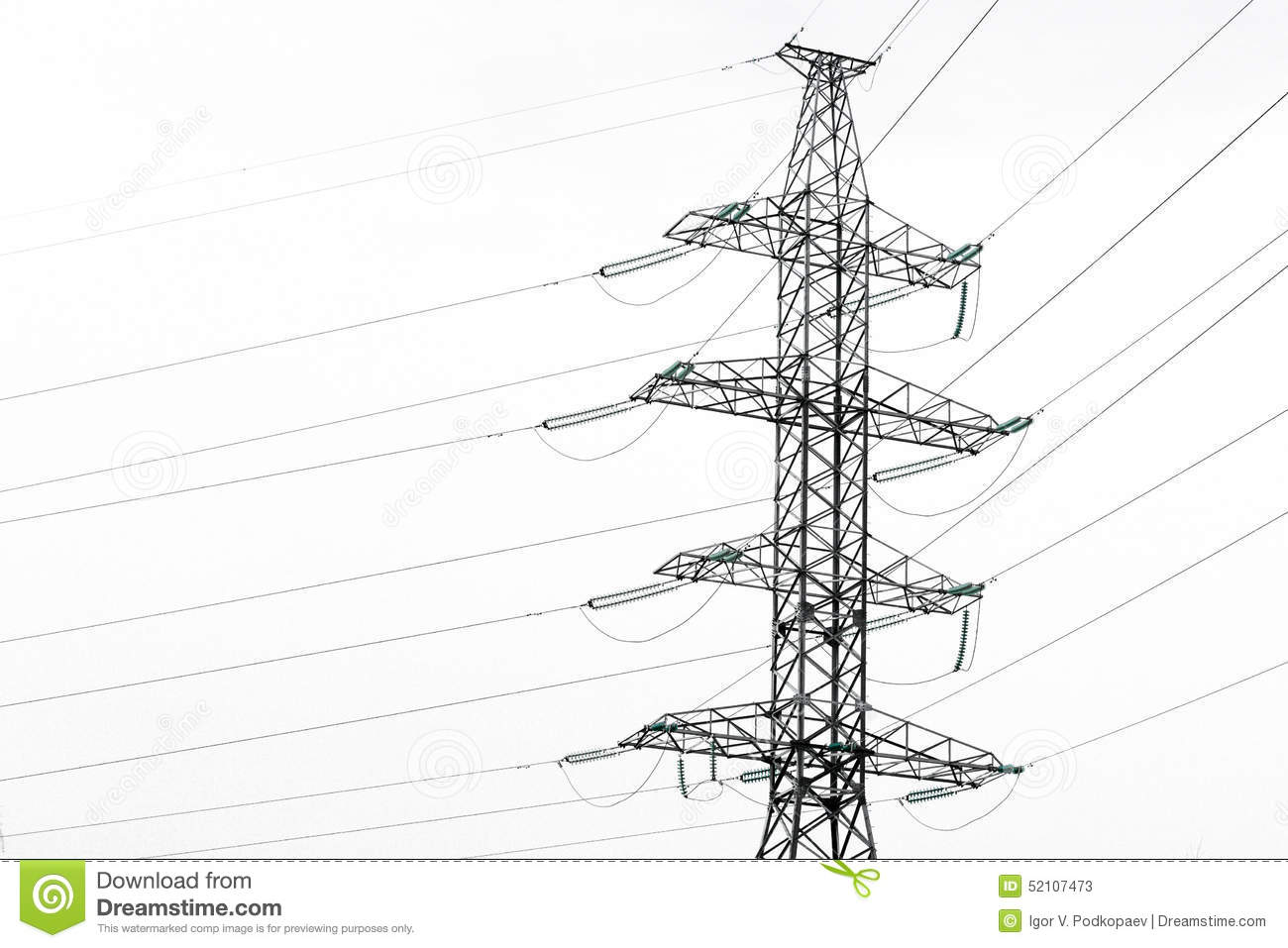 Metal Construction Of High Voltage Power Line Pole Stock