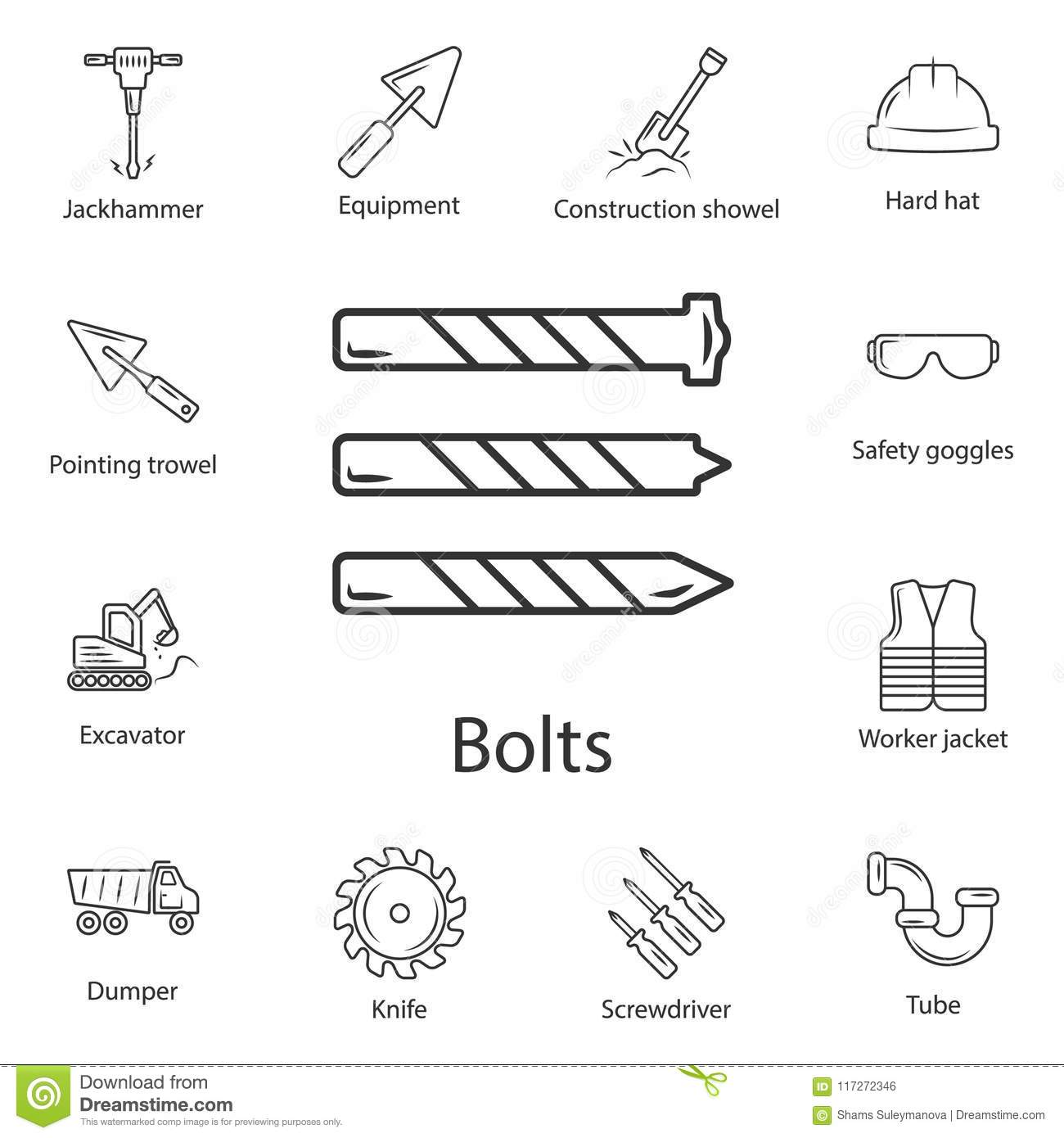 Metal Drill Bit Icon Simple Element Illustration Metal