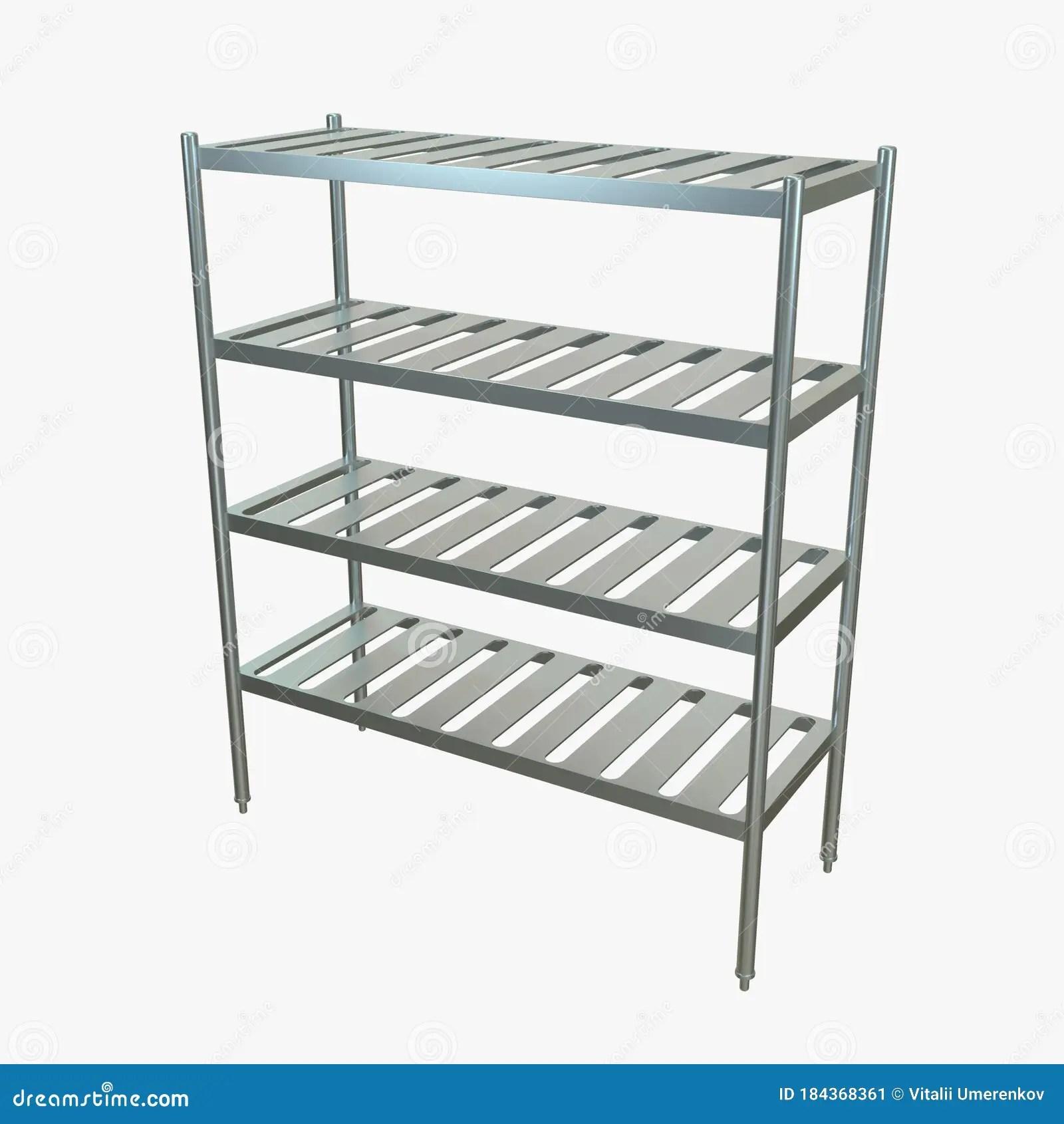 Metal Kitchen Rack Kitchen Storage Stock Image Illustration Of Metal Shelving 184368361