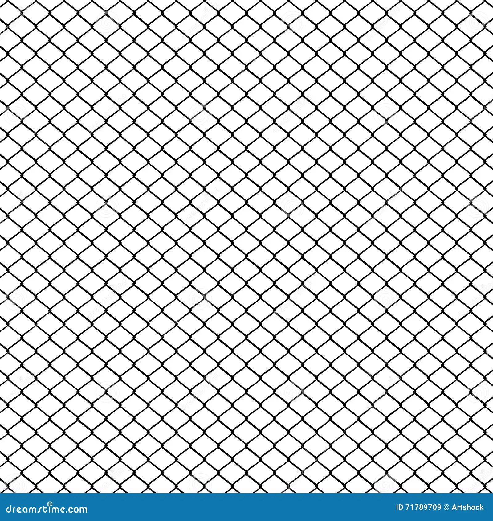 Metal Mesh Fence Stock Vector