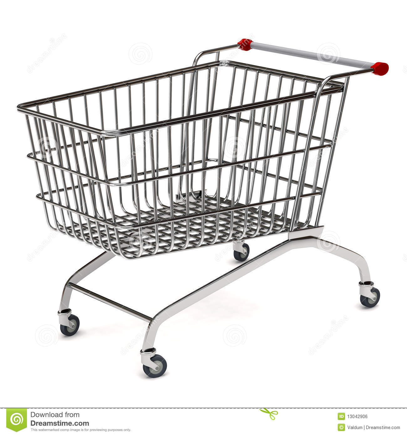 Metal Shopping Trolley Royalty Free Stock Image