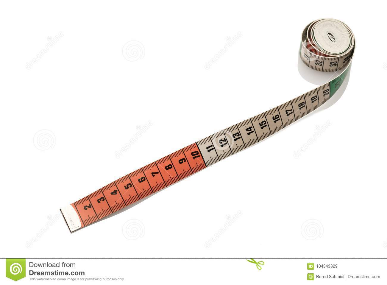 Metric Measuring Tape With Centimeter Stock Image