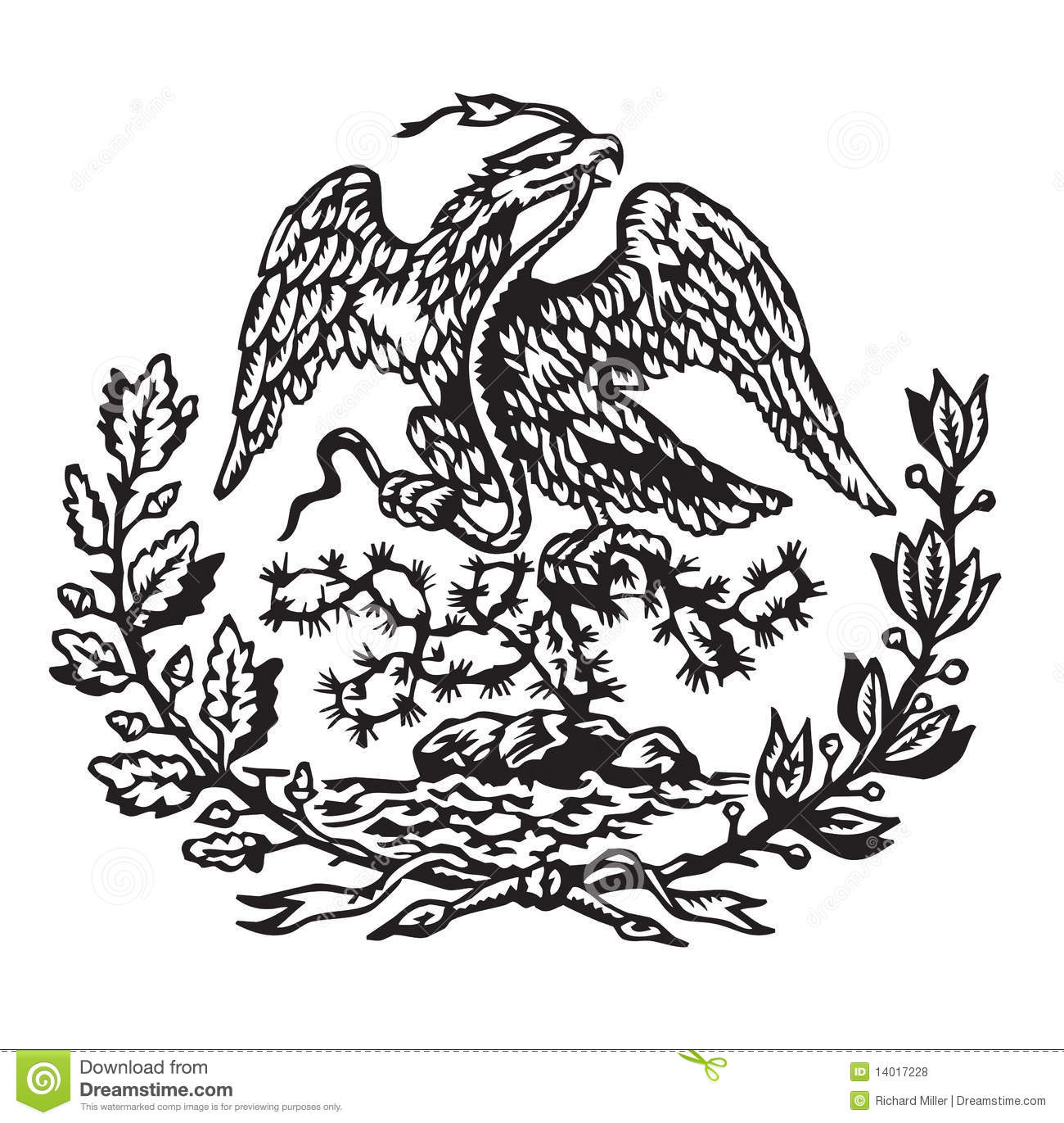 Mexican Coat Of Arms Stock Vector Image Of Snake