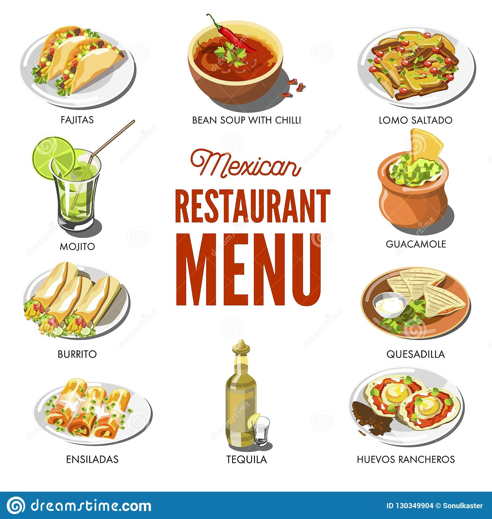 Mexican Food Cuisine Traditional Dishes Of Meal Dishes