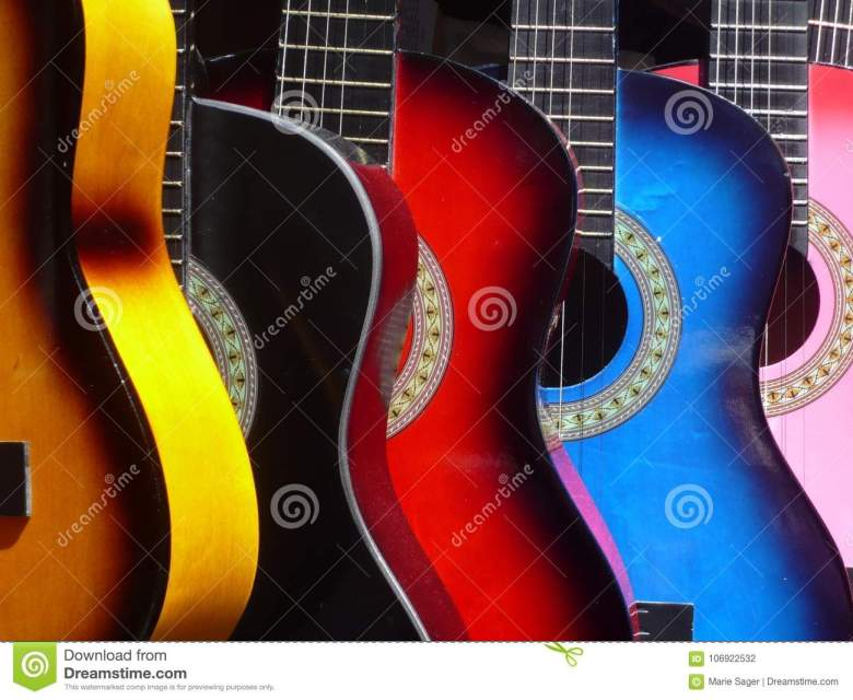mexican musical guitars stock photo. image of music - 106922532
