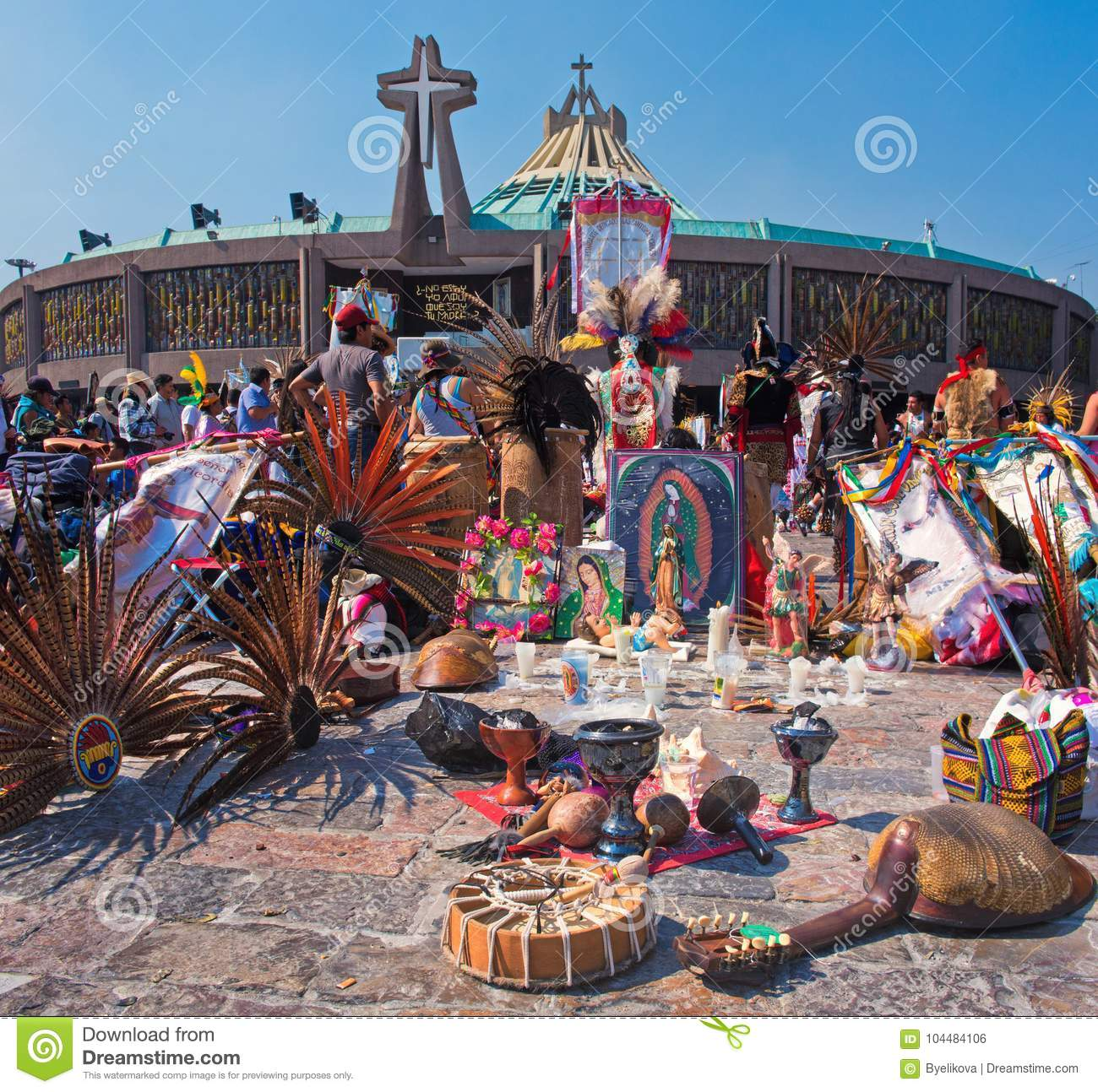 Day Of The Virgin Of Guadalupe In Mexico City Editorial