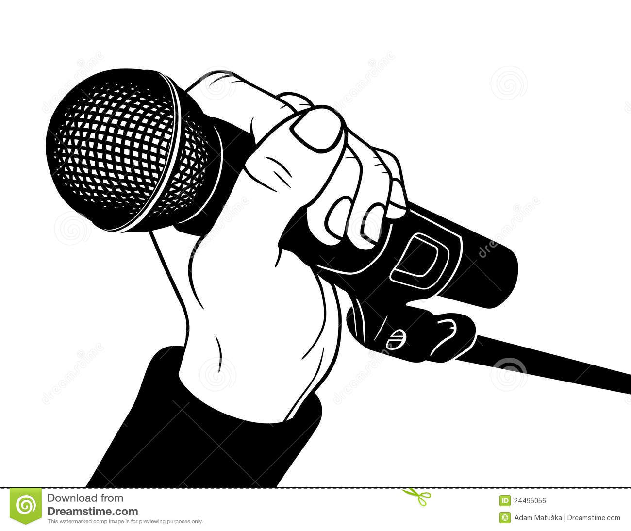 Microphone Stock Vector Illustration Of Black