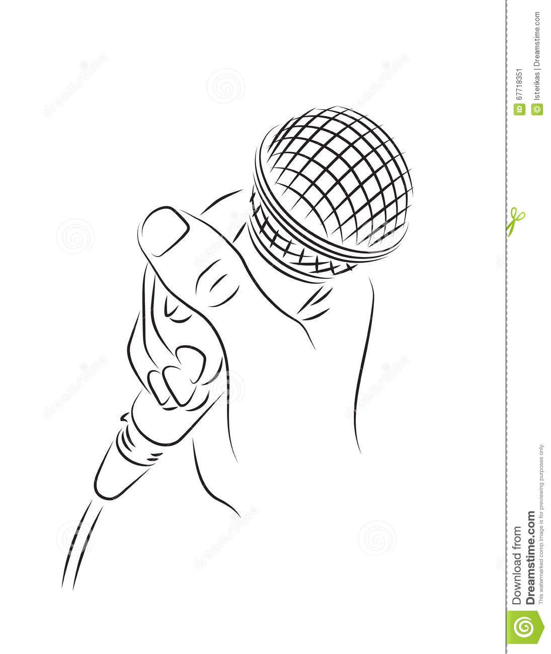 Microphone In Hand Stock Vector Illustration Of