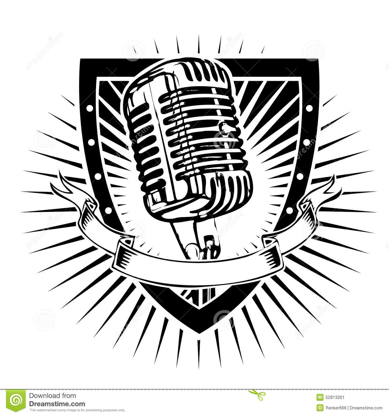 Microphone Shield Stock Vector Illustration Of Musical