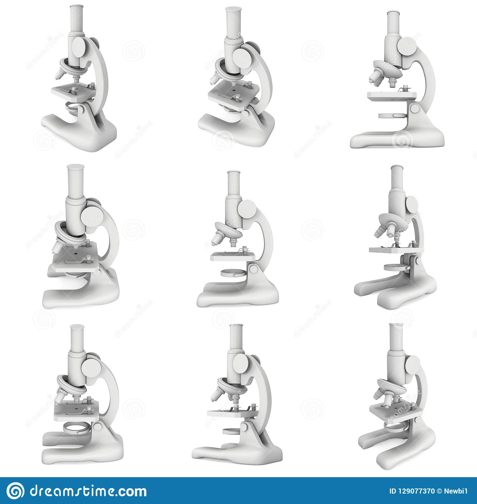 Microscope Biology School Laboratory Equipment Stock