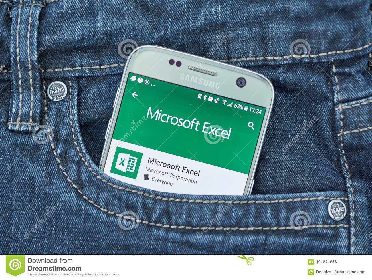 Microsoft Excel Android Application Editorial Photo