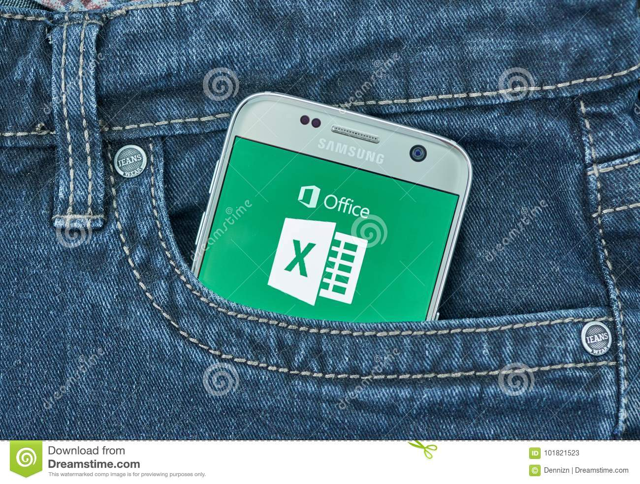 Microsoft Excel Android Application Editorial Stock Photo