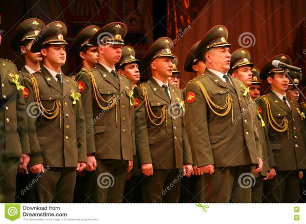 The Military Choir Of The Russian Army Editorial ...