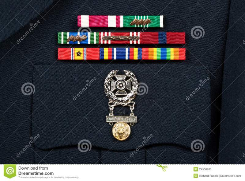 Military Decorations On Dress Uniform