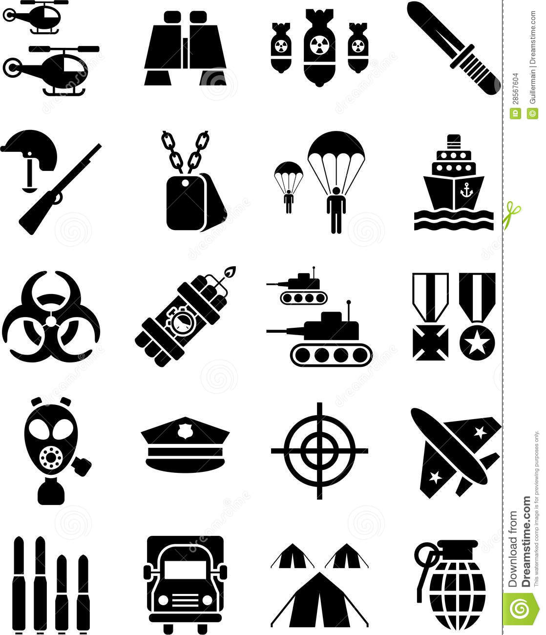 Military Icons Stock Vector Illustration Of Icon Goal