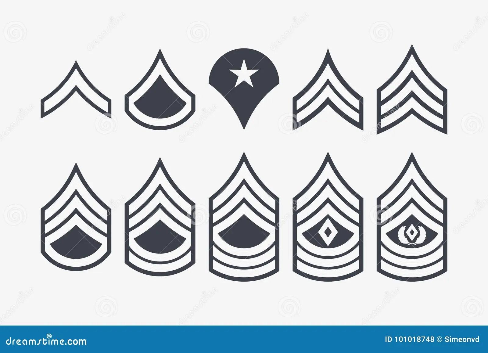 Us Air Force Ranks Stock Illustration