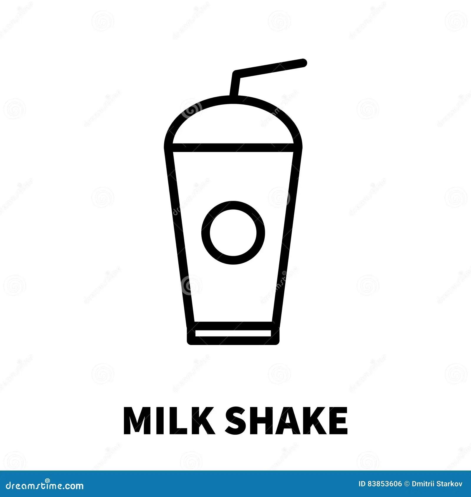 Milk Line Icon Stock Image