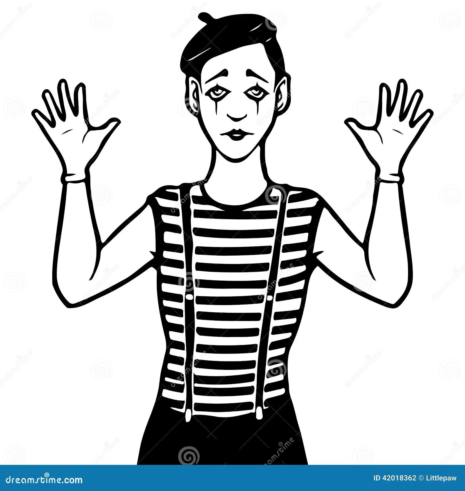 Mime Illustration Stock Vector Illustration Of Stripe