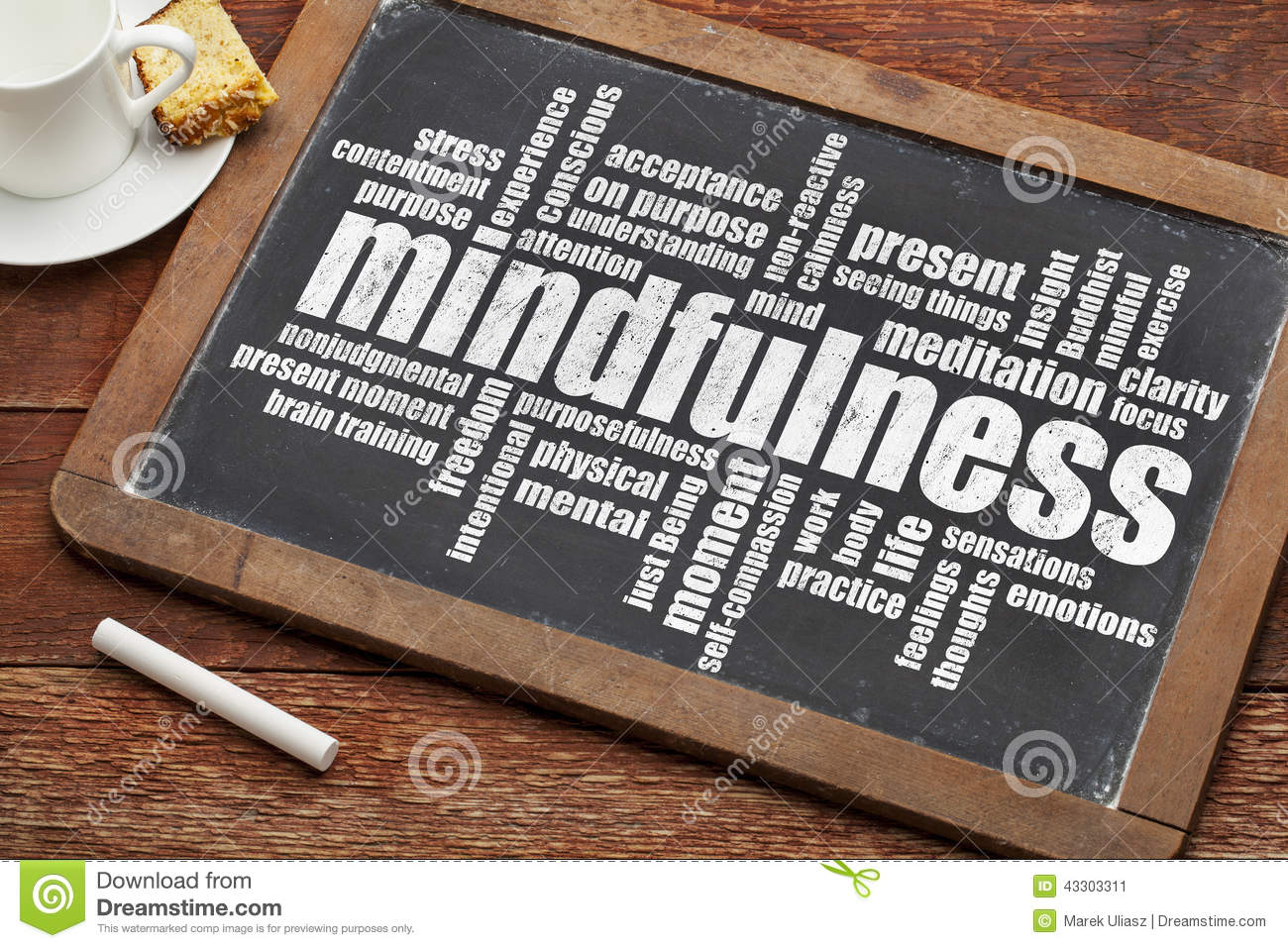 Mindfulness Word Cloud Stock Image Image Of Focus
