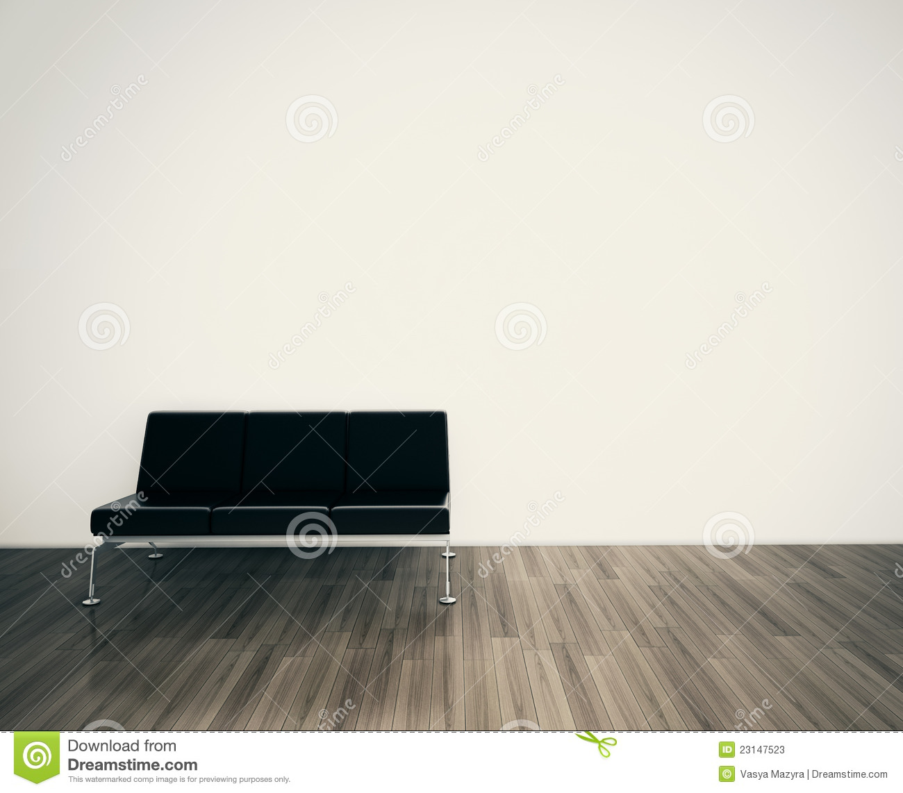 Minimal Modern Interior Couch Face Blank Wall Stock Photos Image 23147523