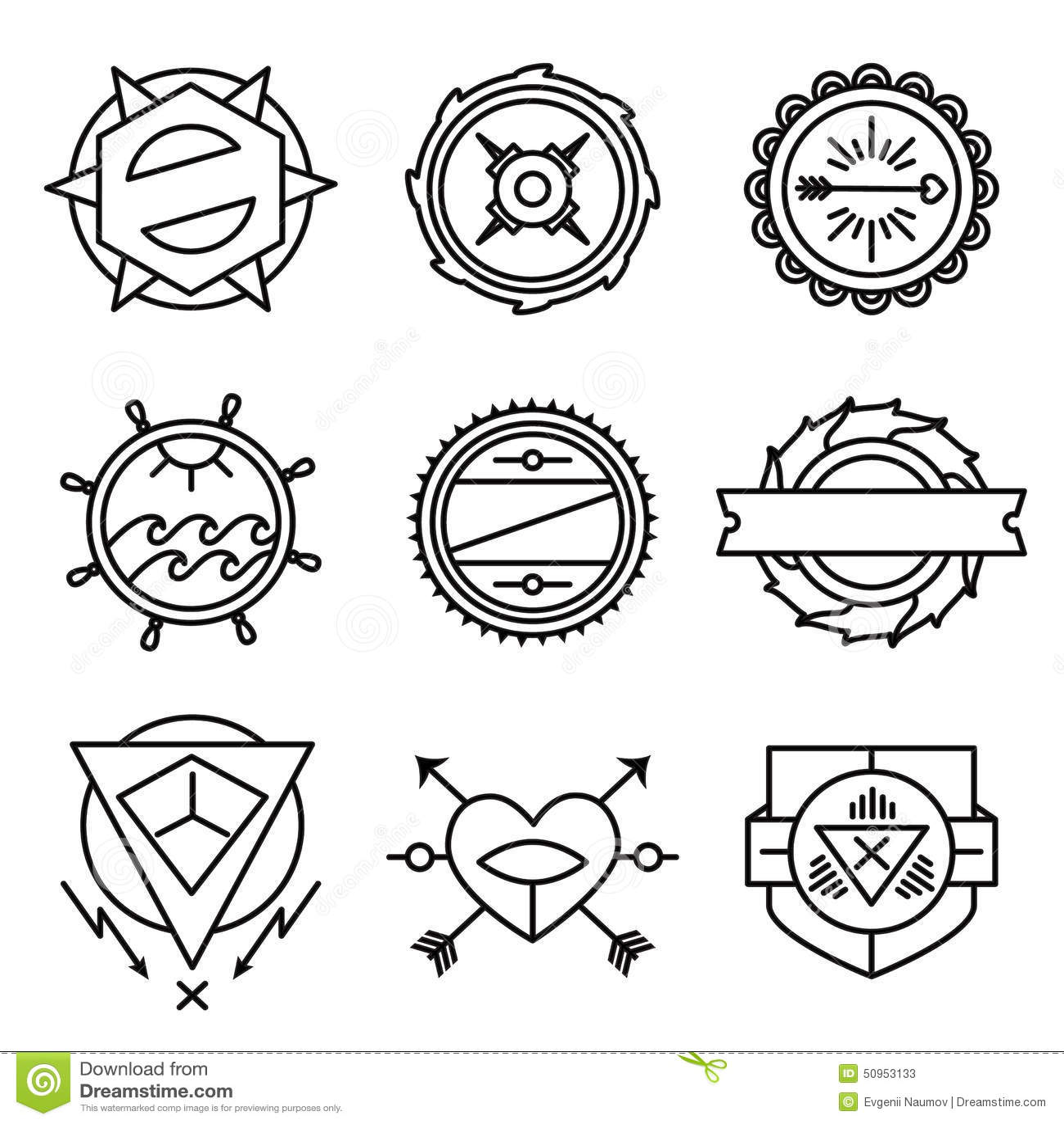 Monochrome Schematic Illustration Vector Illustration