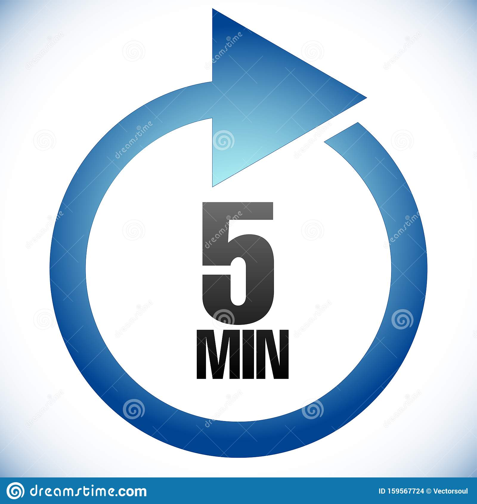 5 Minute Turnaround Time Tat Icon Interval For Processing