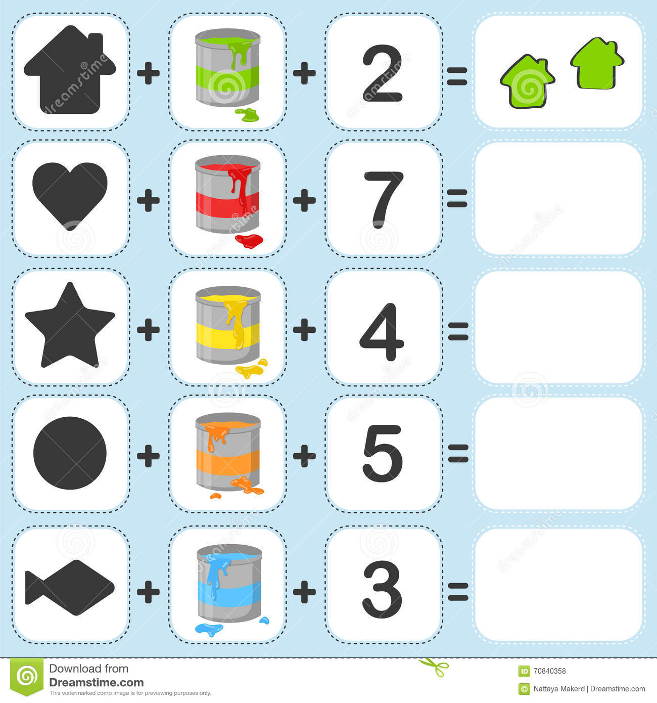 Mix Shape Color And Count