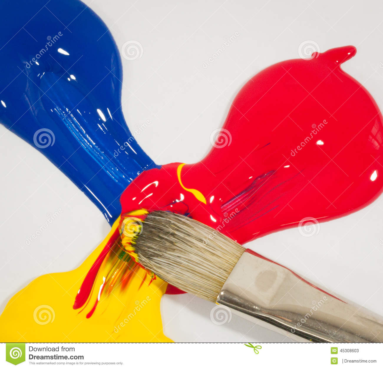 Mixed Primary Colors Stock Image Image Of Colors Smooth