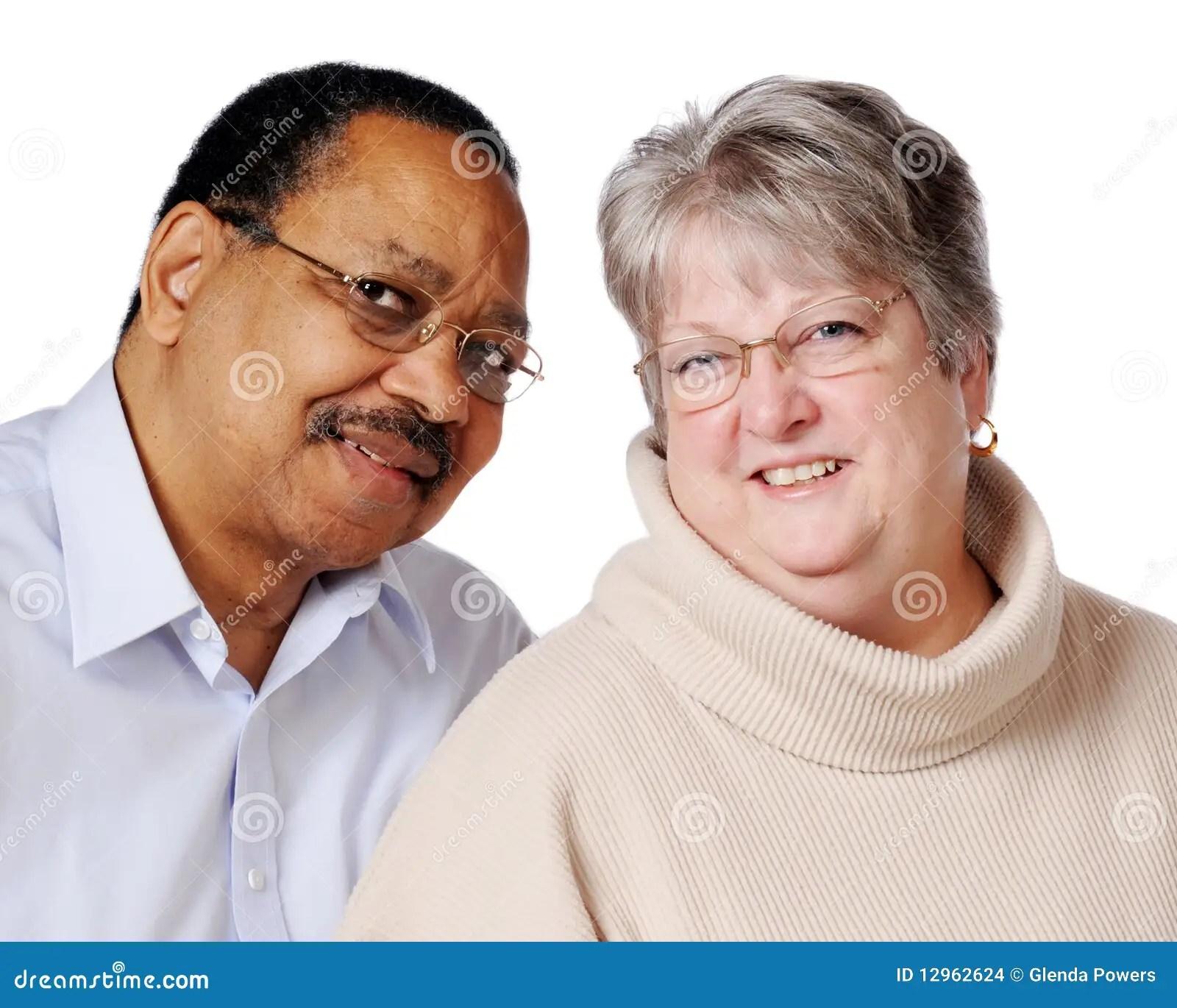 Mixed Race Senior Couple Stock Images