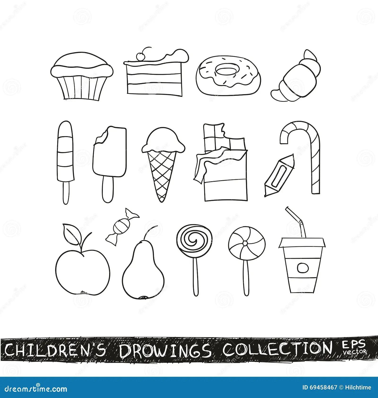 Mao Da Crianca Que Tira A Colecao Saboroso Do Alimento