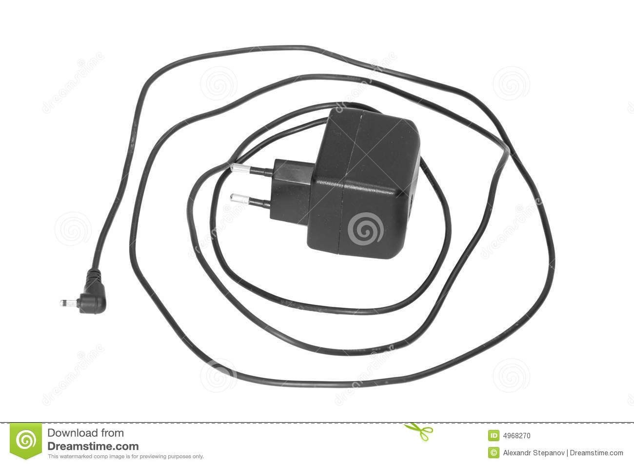 Mobile Phone Charger Stock Photo