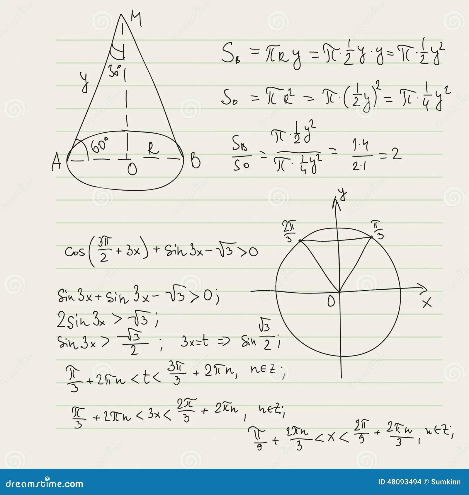 Modello Di Vettore Con Le Formule Matematiche