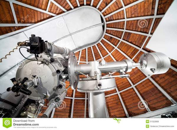 Modern Astronomy Telescope In An Astronomical Observatory ...