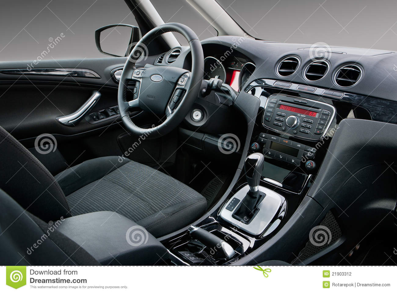 Modern car interior stock photo  Image of auto  shift   21903312 Modern car interior