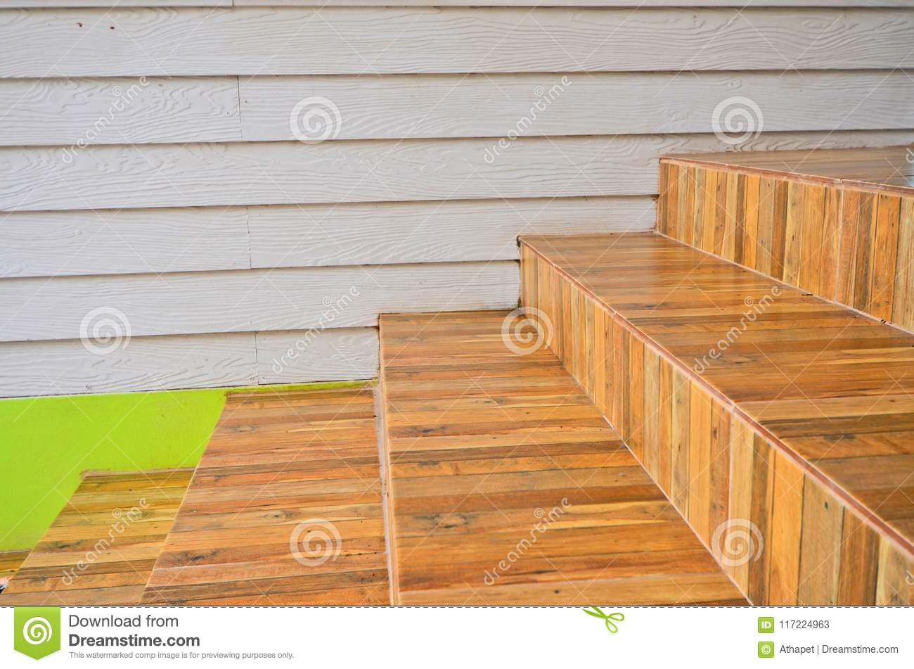 https www dreamstime com modern ceramic tile stairs to upstairswith wooden wall house ceramic tile stairs wood wall house image117224963