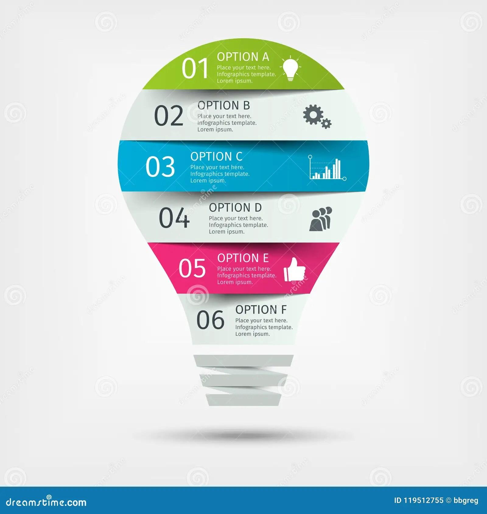 Modern Colorful Light Bulb Infographics Business Startup