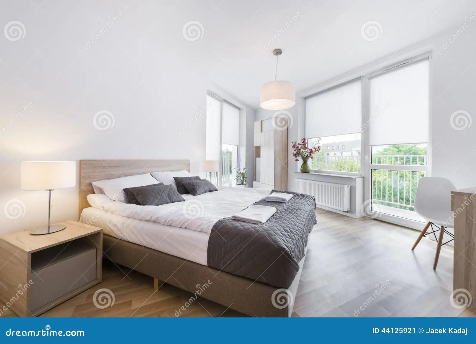 Modern And Comfortable Bedroom Interior Design Stock Image ... on Comfortable Bedroom Ideas  id=25296