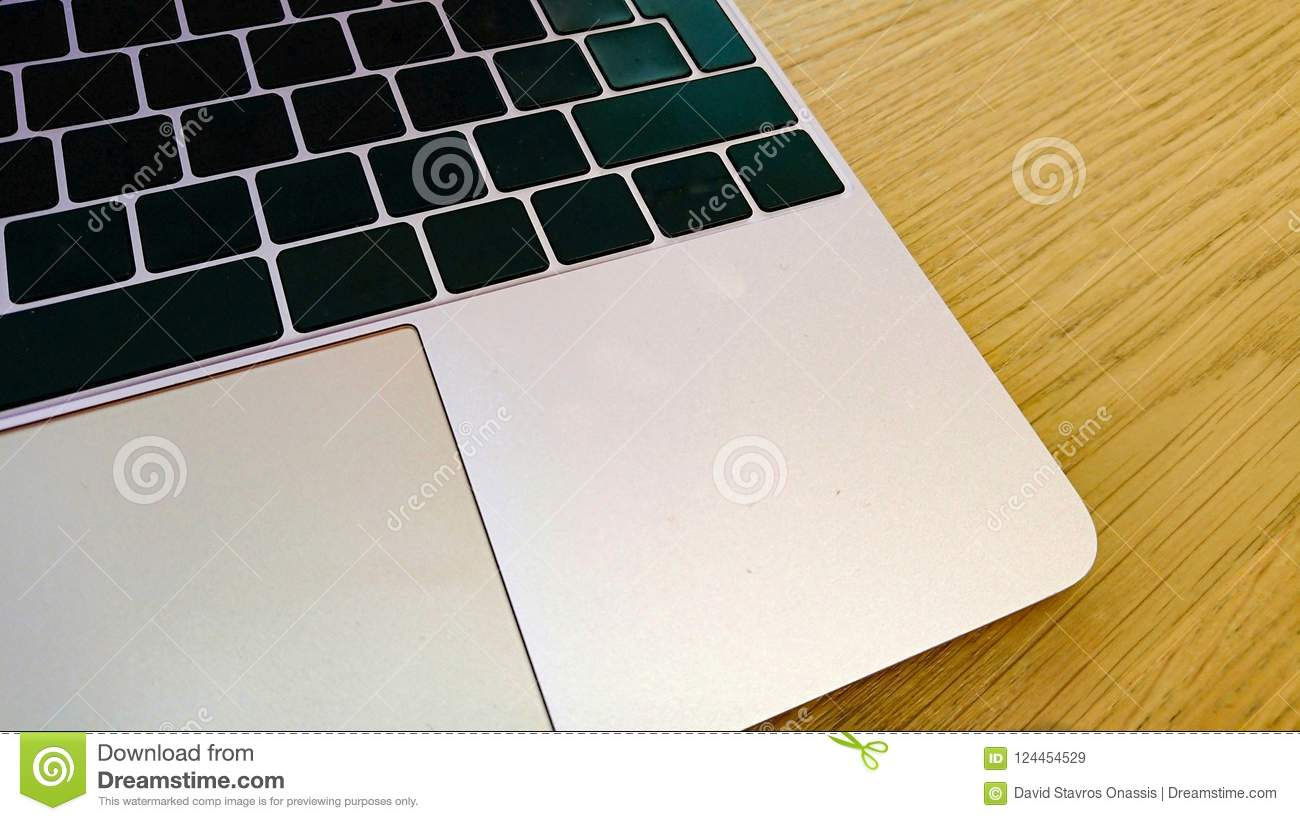 Modern Computer Keyboard And Mouse Mat With Blank Keys