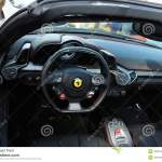 Modern Ferrari Interior Detail Editorial Stock Image Image Of Controls Automobile 45627229