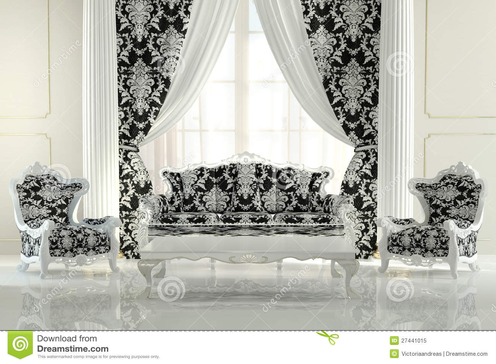 Modern Furniture In Baroque Design Royalty Free Stock Photo Image 27441015