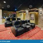 A Modern Home Theater With Comfortable Seating Editorial Stock Photo Image Of Furniture Chair 158699238