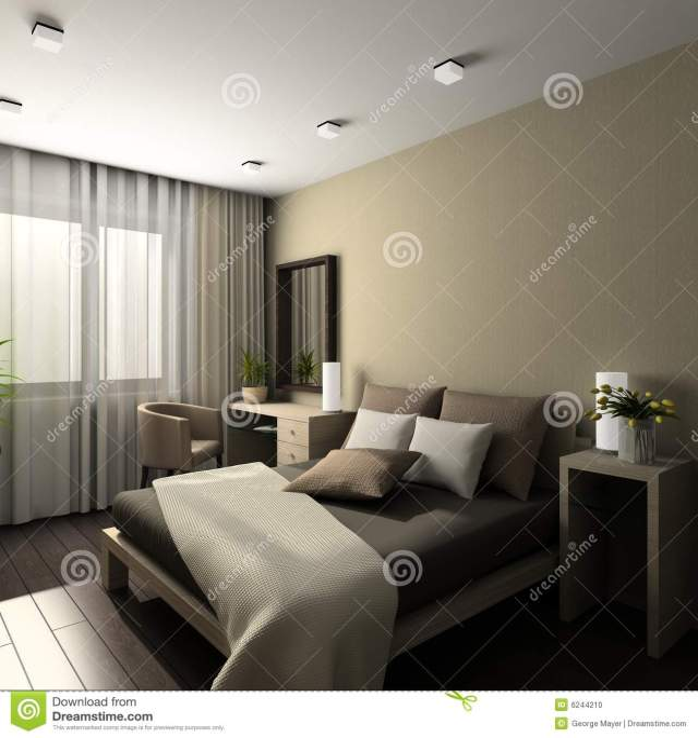 Modern Interior. 3D Render Stock Photo - Image: 6244210