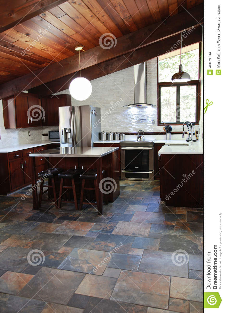 Modern Kitchen Stock Photo Image 40079704