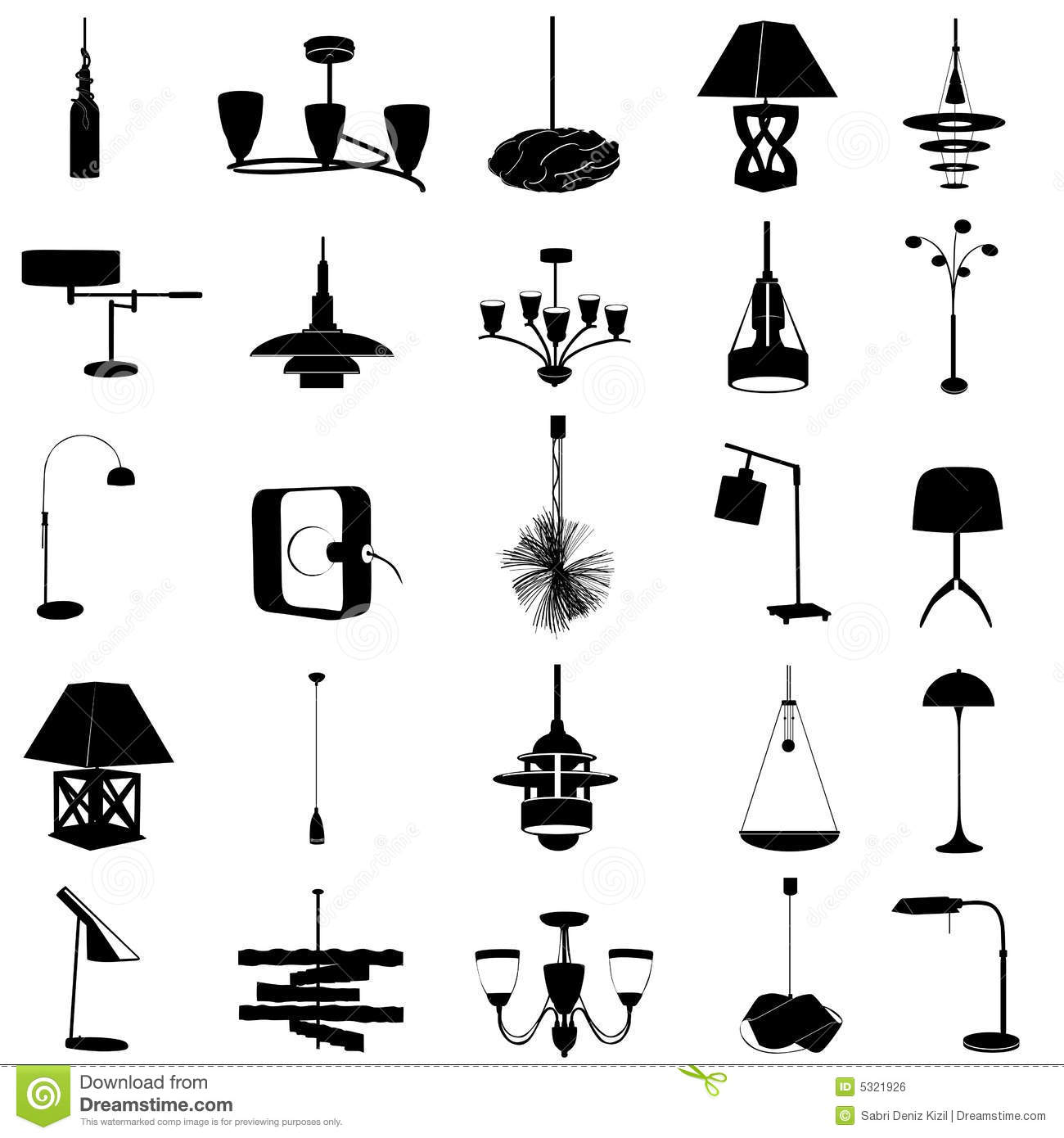 Modern Lighting Vector Stock Vector Image Of Collection