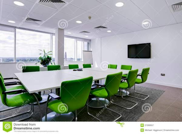 Modern office boardroom stock image Image of white