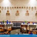 A Modern Restaurant Dining Area Stock Image Image Of Restaurant Dining 183377255