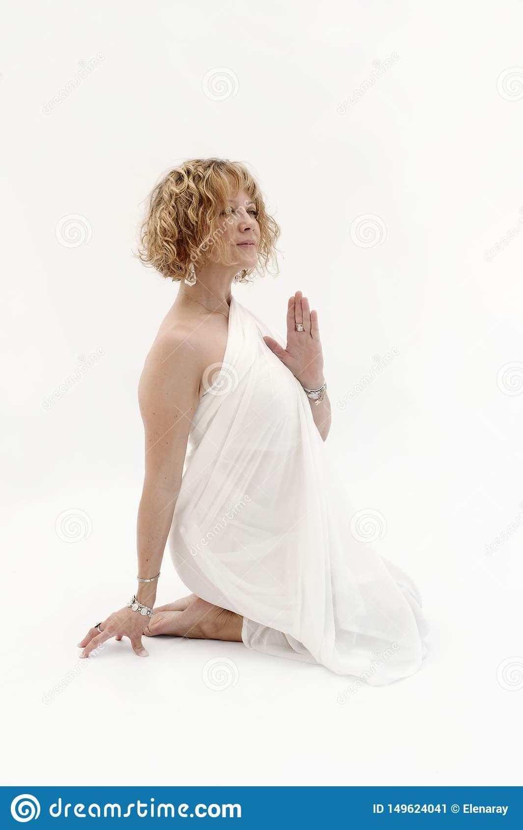 Self Empowerment Woman Priestess Portrait Stock Image