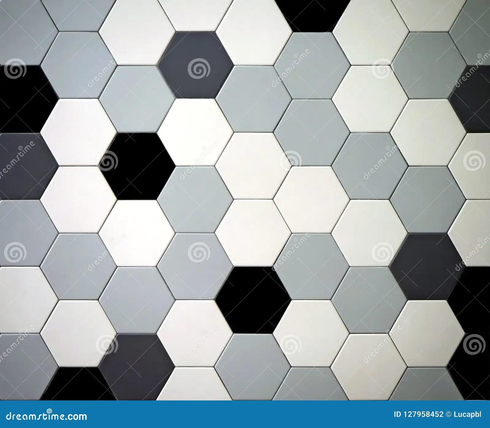 https www dreamstime com modern tiled floor hexagonal tiles colors black white light dark gray randomly arranged image127958452