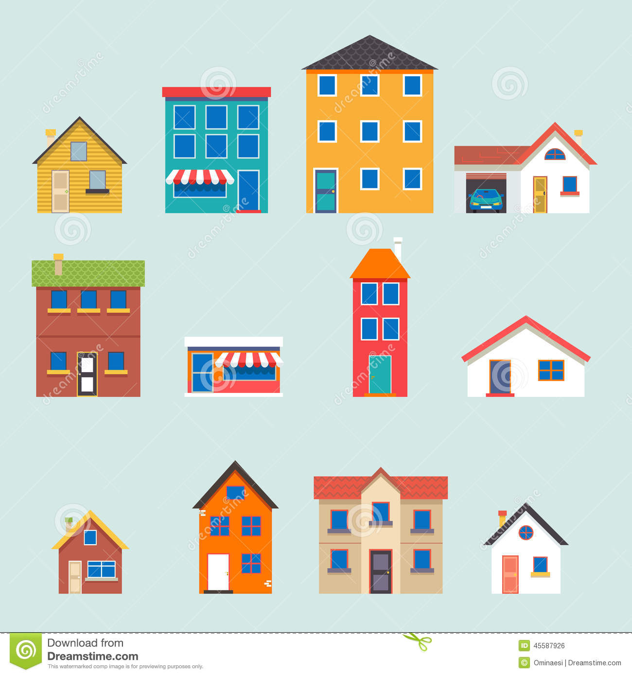 Image Result For Building And House Vector